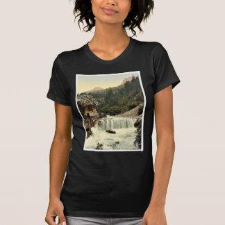 Lower Engadine, Tarasp, waterfall, Grisons, Switze Shirts