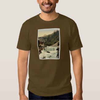 Lower Engadine, Tarasp, waterfall, Grisons, Switze T-shirt