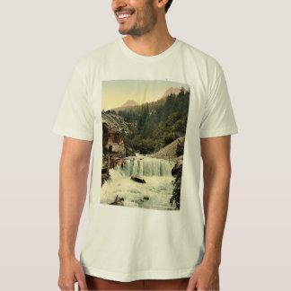 Lower Engadine, Tarasp, waterfall, Grisons, Switze T Shirts