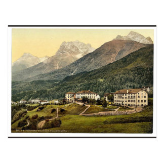 Lower Engadine, Vulpera with Mountains, Grisons, S Postcard