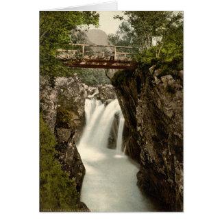 Lower Fall, Glen Nevis, Fort William, Scotland Greeting Card