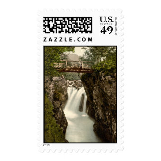 Lower Fall, Glen Nevis, Fort William, Scotland Stamps