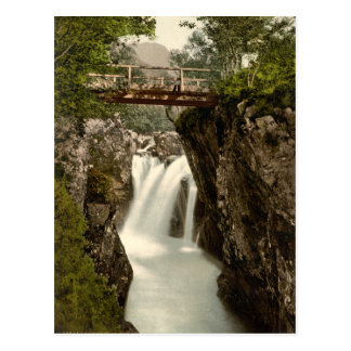 Lower Fall, Glen Nevis, Fort William, Scotland Postcard