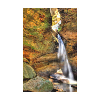 Lower Falls, Conkle's Hollow, Hocking Hills, Ohio Canvas Print