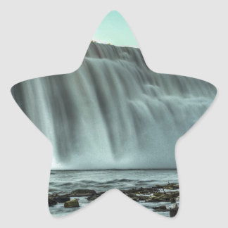 Lower Falls, Genesee River Star Sticker