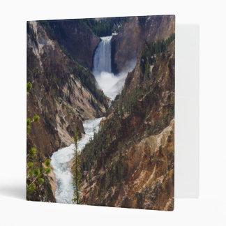 Lower Falls Yellowstone 3 Ring Binder