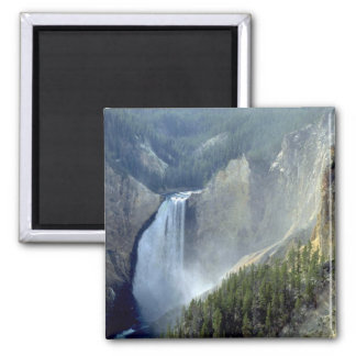 Lower Falls, Yellowstone River Canyon 2 Inch Square Magnet