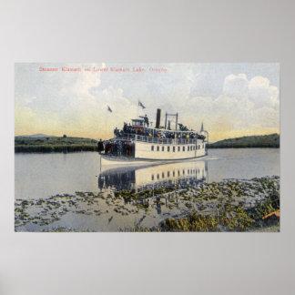 Lower Lake View of Steamer Klamath Poster