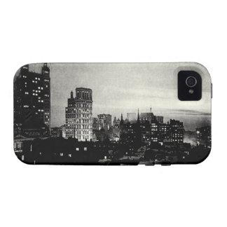 Lower Manhattan 1898 en la oscuridad Case-Mate iPhone 4 Fundas