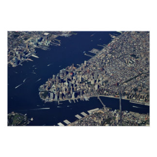 Lower Manhattan aéreo Póster
