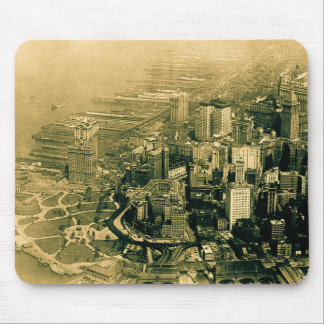Lower Manhattan Aerial Photo Vintage Mouse Pad