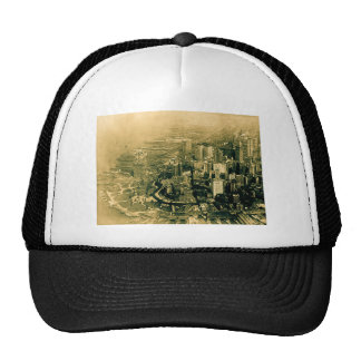 Lower Manhattan Aerial Photo Vintage Trucker Hat
