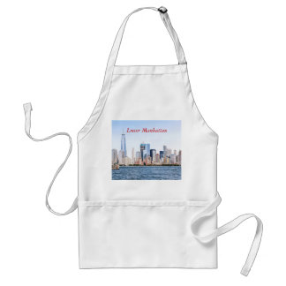 Lower Manhattan Color Sketch Apron