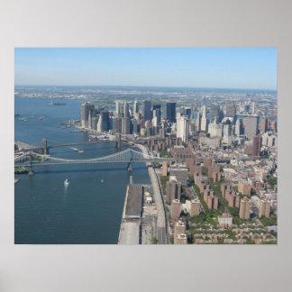 Lower Manhattan de East River Póster