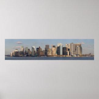 Lower Manhattan del transbordador de Staten Island Póster