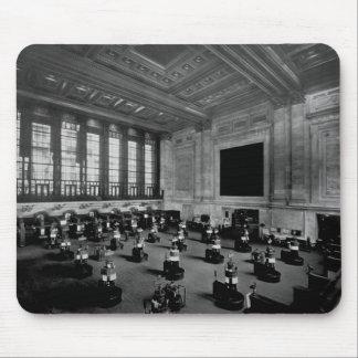 Lower Manhattan interior de la Bolsa de Nuevo York Tapete De Ratones