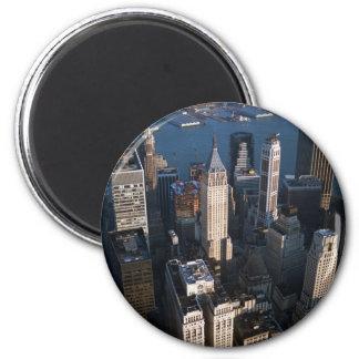 Lower Manhattan 2 Inch Round Magnet