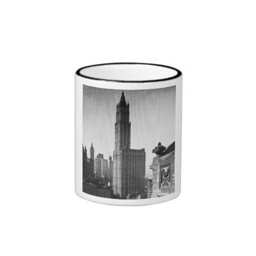 Lower Manhattan New York City del edificio de Wool Tazas De Café