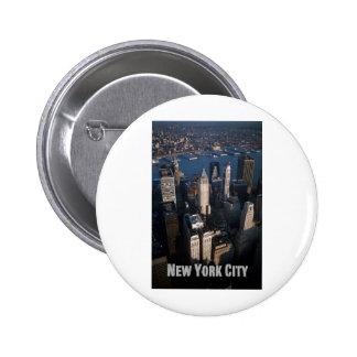 Lower Manhattan New York City Pin Redondo 5 Cm