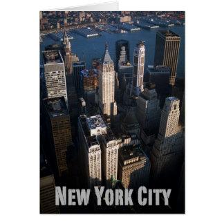 Lower Manhattan New York City Tarjeta De Felicitación