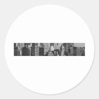 Lower Manhattan, New York City, USA. Classic Round Sticker
