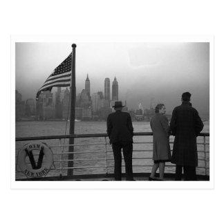 Lower Manhattan seen from the S.S. Coamo Vintage Postcard