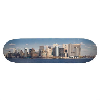 Lower Manhattan Skyline 2006  Skateboard WOW!