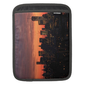 Lower Manhattan Skyline at Twilight Pink Sky A1 Sleeves For iPads