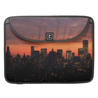 Lower Manhattan Skyline at Twilight Pink Sky A1 Sleeve For MacBooks