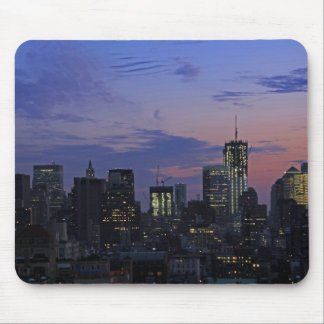 Lower Manhattan Skyline at twilight - Sept 2011 Mousepads