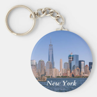 Lower Manhattan Skyline Keychain