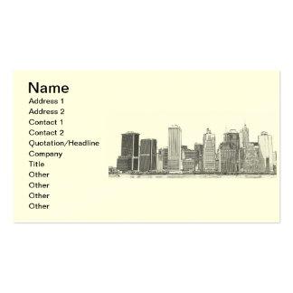 lower Manhattan Skyline, New York City Business Card