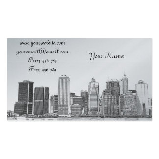 lower Manhattan Skyline, New York City Double-Sided Standard Business Cards (Pack Of 100)