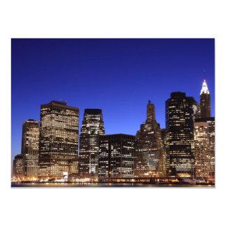 Lower Manhattan Skyline, New York City Invitation