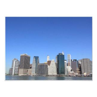 Lower Manhattan Skyline, New York City Custom Invites