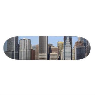 Lower Manhattan Skyline , New York City Skateboard
