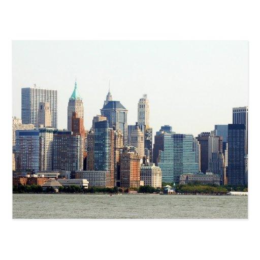 Lower Manhattan Skyline Postcard