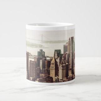 Lower Manhattan Skyline - View from Midtown Large Coffee Mug