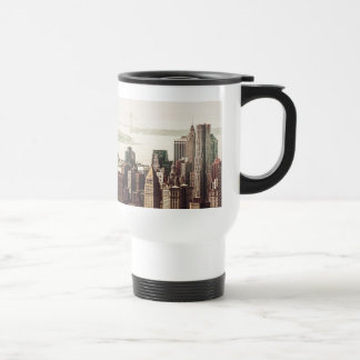 Lower Manhattan Skyline - View from Midtown Travel Mug