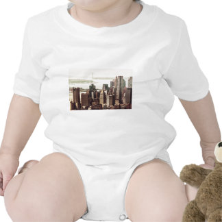Lower Manhattan Skyline - View from Midtown Rompers