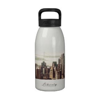 Lower Manhattan Skyline - View from Midtown Drinking Bottles