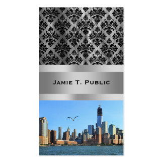 Lower Manhattan Skyline: WTC, Woolworth Double-Sided Standard Business Cards (Pack Of 100)