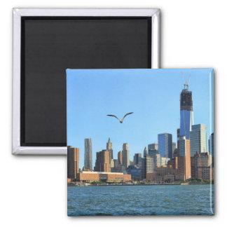Lower Manhattan Skyline: WTC, Woolworth Fridge Magnets