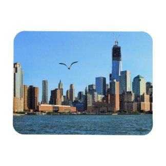 Lower Manhattan Skyline: WTC, Woolworth Rectangle Magnet