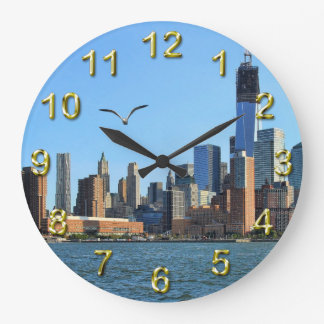 Lower Manhattan Skyline: WTC, Woolworth Wall Clocks