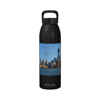 Lower Manhattan Skyline: WTC, Woolworth Reusable Water Bottle