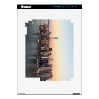 Lower Manhattan Sunset WTC Freedom Tower NYC iPad 3 Decals