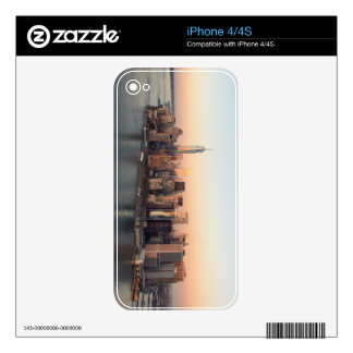 Lower Manhattan Sunset WTC Freedom Tower NYC iPhone 4 Decal