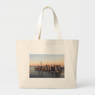 Lower Manhattan Sunset WTC Freedom Tower NYC Large Tote Bag