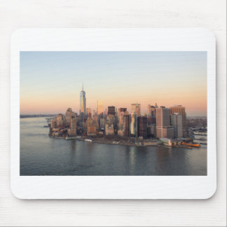 Lower Manhattan Sunset WTC Freedom Tower NYC Mouse Pad